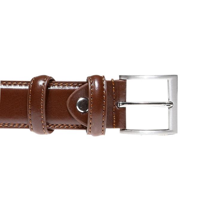 Men's Leather Belt bata, brown , 954-3121 - 26