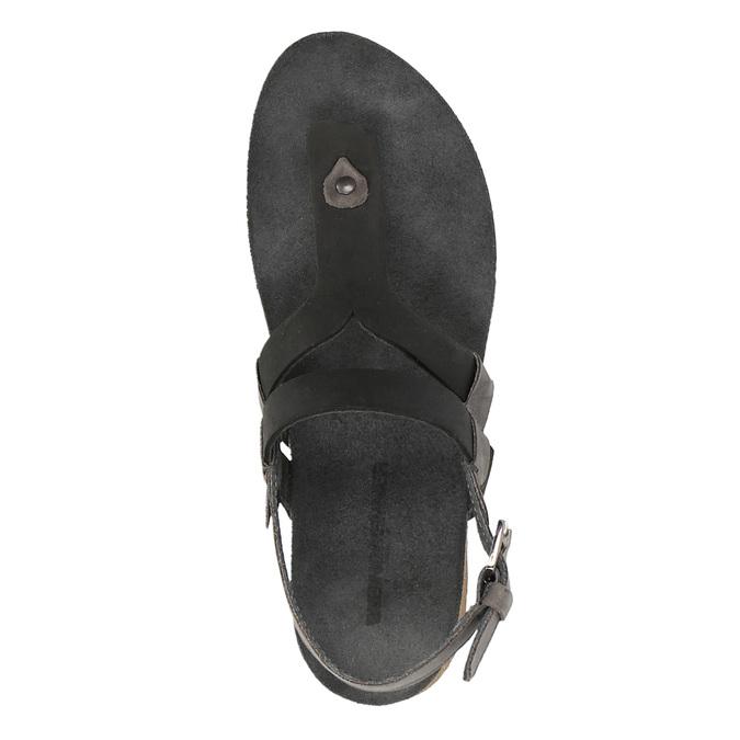 Ladies' leather sandals weinbrenner, black , 566-6101 - 19