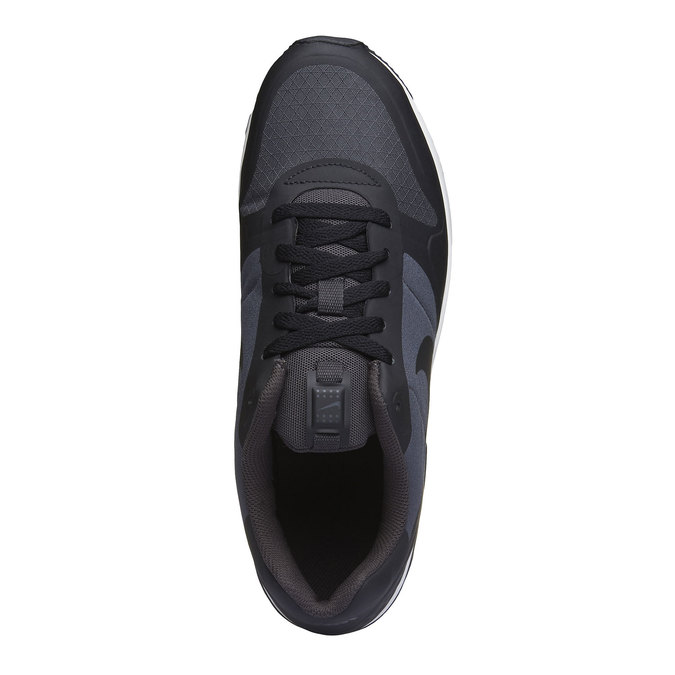 Men's sneakers in a sports style nike, black , 809-6328 - 19