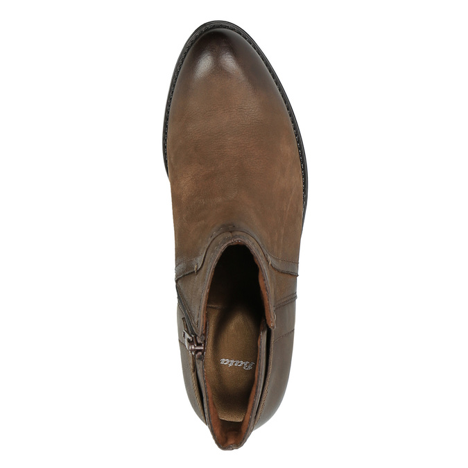 Ladies' ankle shoes bata, brown , 696-4605 - 19