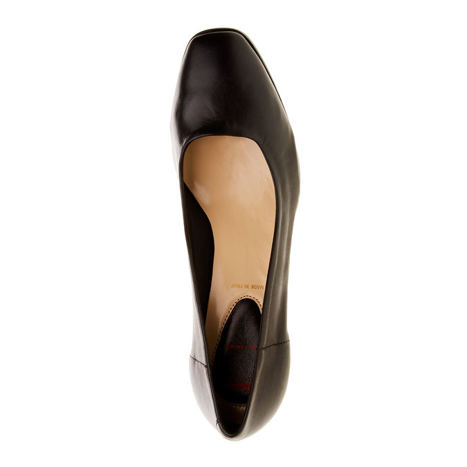 Leather Pumps flexible, black , 624-6706 - 19