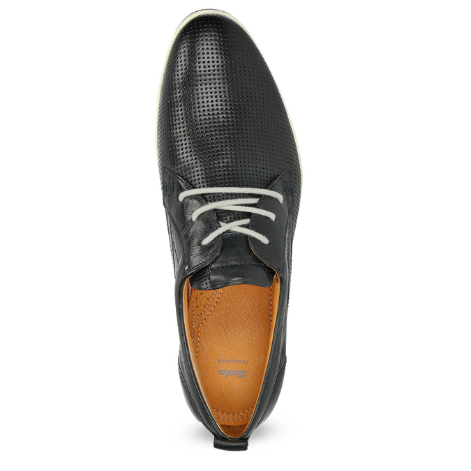 Casual leather low shoes bata, black , 824-9124 - 17