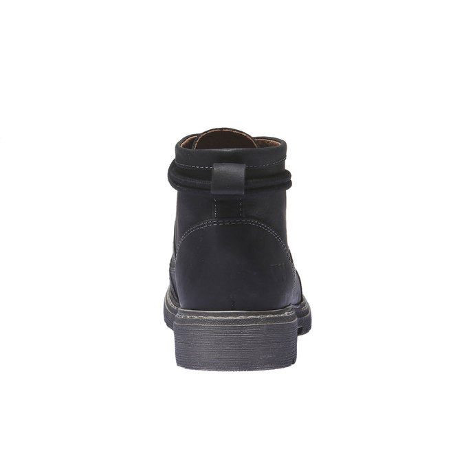 Leather shoes with original lacing weinbrenner, black , 594-6409 - 17