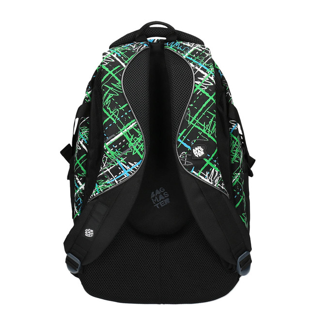 School backpack with printed pattern bagmaster, green, 969-7613 - 26