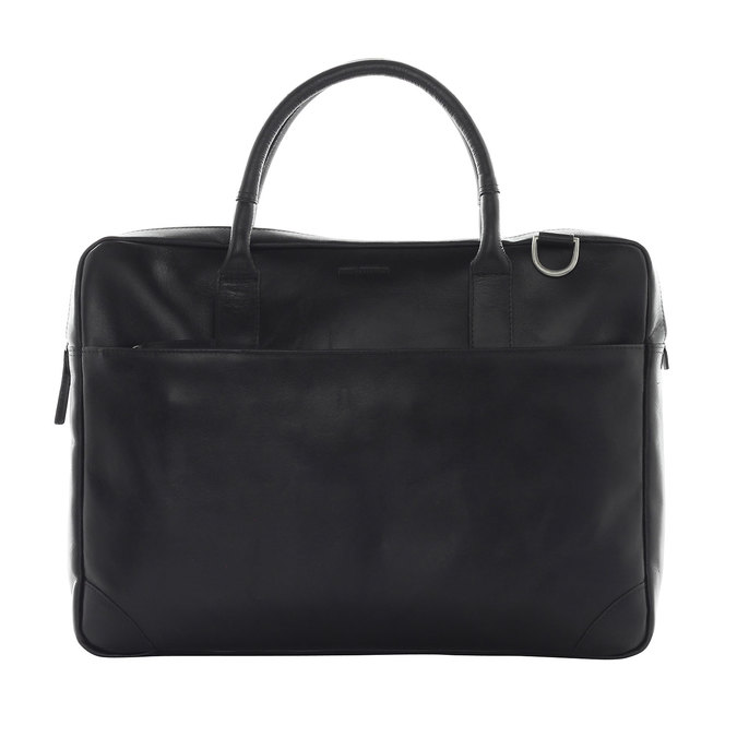 Leather bag with strap royal-republiq, black , 964-6199 - 26