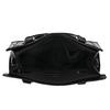 Black handbag with gold detailng bata, black , 961-6610 - 15