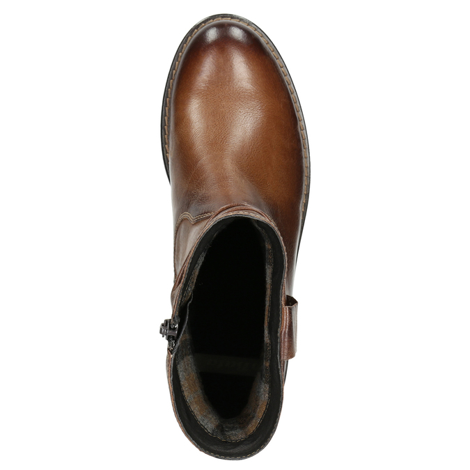 Western-style leather ankle boots bata, brown , 594-4611 - 26