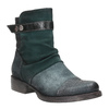 Leather ankle boots with silver details bata, turquoise, 596-9614 - 13