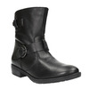 Ladies' leather high boots with buckle bata, black , 596-6141 - 13