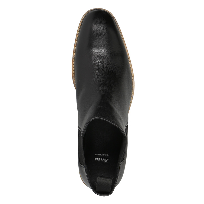 Leather Chelsea Boots bata, black , 894-6666 - 19