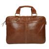 Men's brown leather satchel bata, brown , 964-3204 - 19