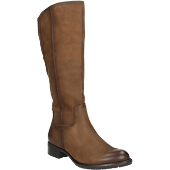 Brown leather Cossacks bata, brown , 596-4604 - 13