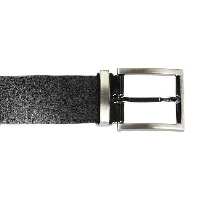 Gentlemen´s leather belt bata, black , 954-6129 - 26