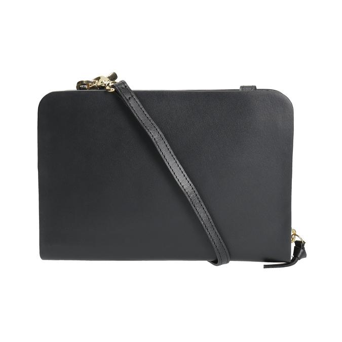 Black leather crossbody handbag royal-republiq, black , 964-6017 - 19