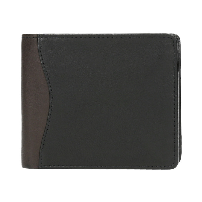 Stylish men's wallet bata, black , 944-6177 - 26