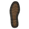 Casual leather shoes on a contrasting sole bata, brown , 824-4698 - 19