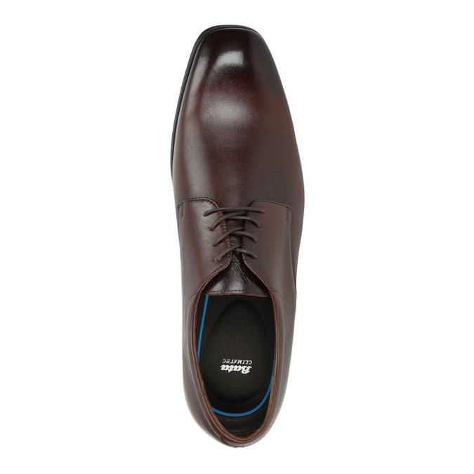 Men's leather Derby shoes bata, brown , 824-4752 - 19