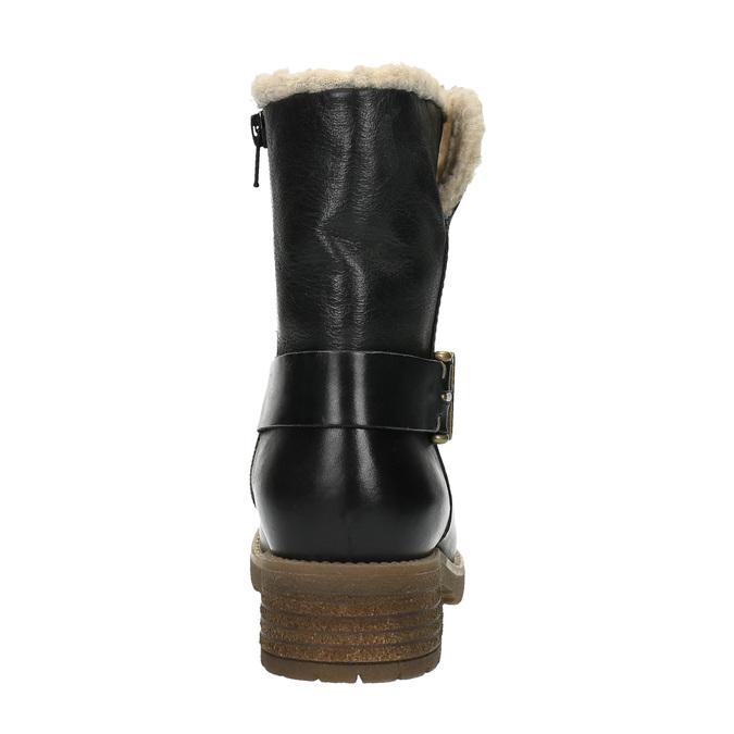 Ladies´ boots with fur bata, black , 594-6609 - 17