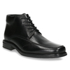 Insulated leather ankle boots bata, black , 894-6640 - 13