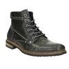 Men's leather ankle boots bata, gray , 894-2621 - 13