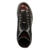 Laced leather shoes on a contrasting sole weinbrenner, red , 596-5635 - 19