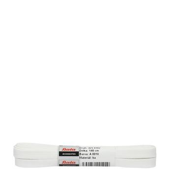 White laces bata, white , 901-1140 - 13