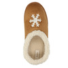 Slippers with artificial fur bata, brown , 579-8612 - 19