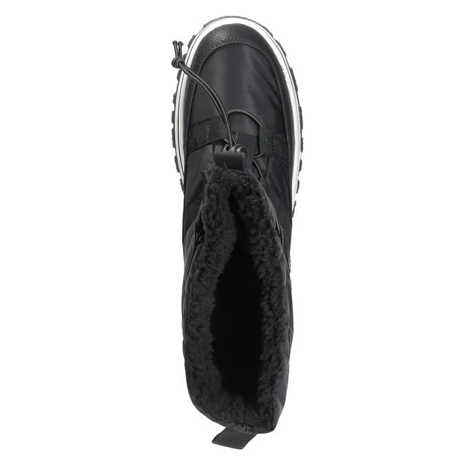 Ladies´ snow boots with warm padding bata, black , 599-6611 - 19