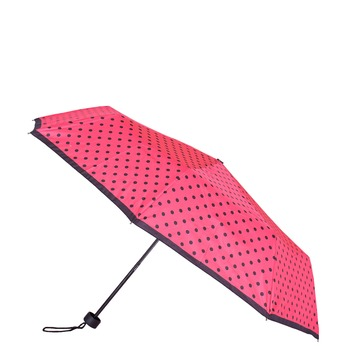 Telescopic umbrella with dots bata, pink , 909-5601 - 13