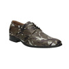 Leather shoes with camouflage pattern climatec, green, 826-7600 - 13