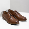 Men's thick-soled leather shoes bata, brown , 826-3809 - 26