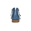 Leather high ankle boots with perforations bata, blue , 596-9647 - 17