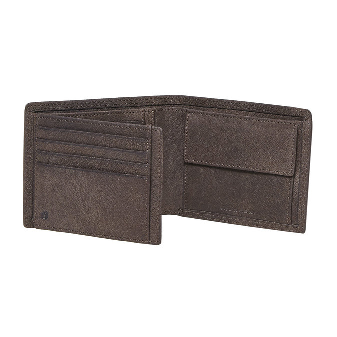 Men's leather wallet bata, brown , 944-4129 - 17