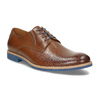 Leather shoes with a distinctive sole conhpol, brown , 824-3857 - 13