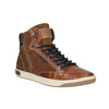 Leather ankle sneakers with zip bata, brown , 844-3632 - 13