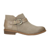 Leather ankle boots with buckle bata, brown , 596-3634 - 15