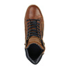 Leather ankle sneakers with zip bata, brown , 844-3632 - 19