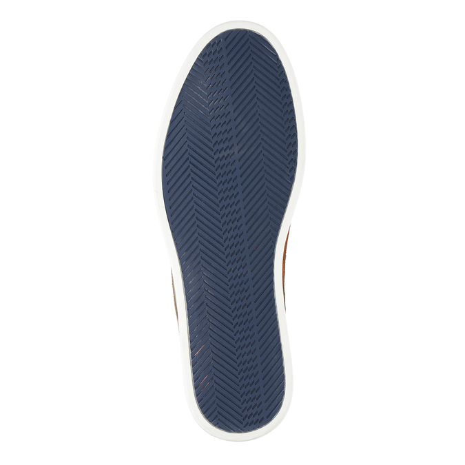 Casual leather shoes bata, blue , 843-9623 - 26