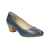 Pumps on a stable heel pillow-padding, blue , 626-9637 - 13