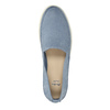 Ladies' leather shoes with perforations bata, blue , 516-9601 - 19