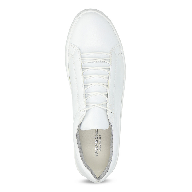White leather sneakers vagabond, white , 624-1019 - 17