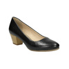Pumps with a rounded toe pillow-padding, black , 624-6637 - 13