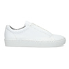 White leather sneakers vagabond, white , 624-1019 - 19