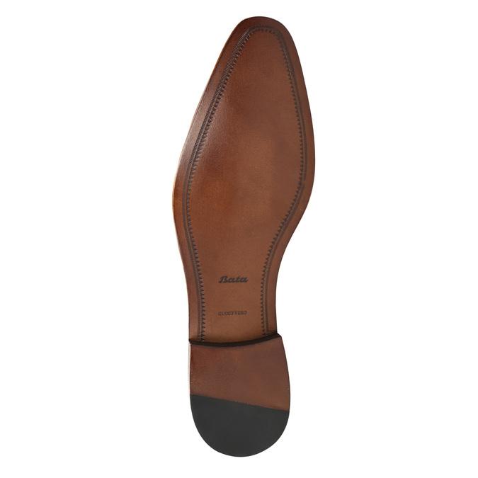 Men's blue leather shoes bata, blue , 826-9836 - 26
