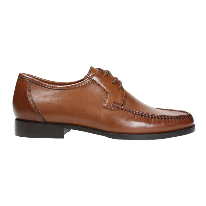 Leather shoes with contrasting quilting for gentlemen bata, brown , 824-4838 - 15
