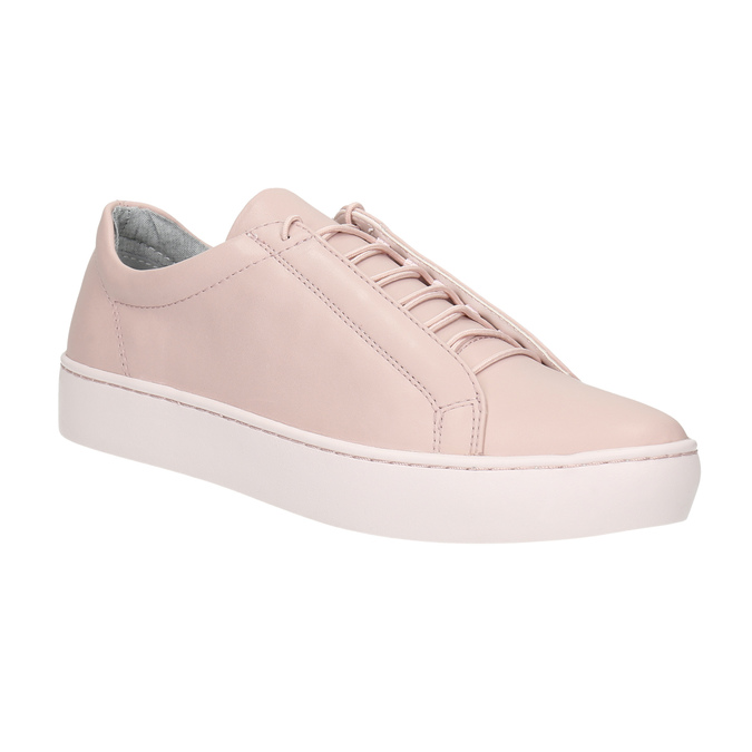 Pink leather sneakers vagabond, pink , 624-8019 - 13