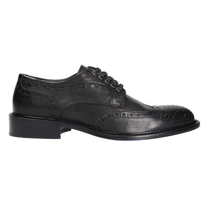 Men's leather shoes bata-the-shoemaker, black , 824-6292 - 15