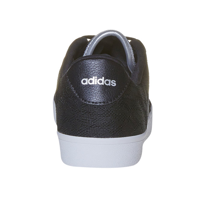 Ladies' black sneakers with lace adidas, black , 509-6195 - 17