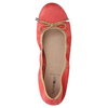 Red ballet pumps with flexible topline bata, red , 526-5617 - 19