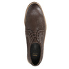 Brown leather shoes with distinctive stitching bata, brown , 826-4815 - 19